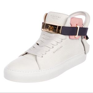❤️BUSCEMI 100 MM leather high top sneakers